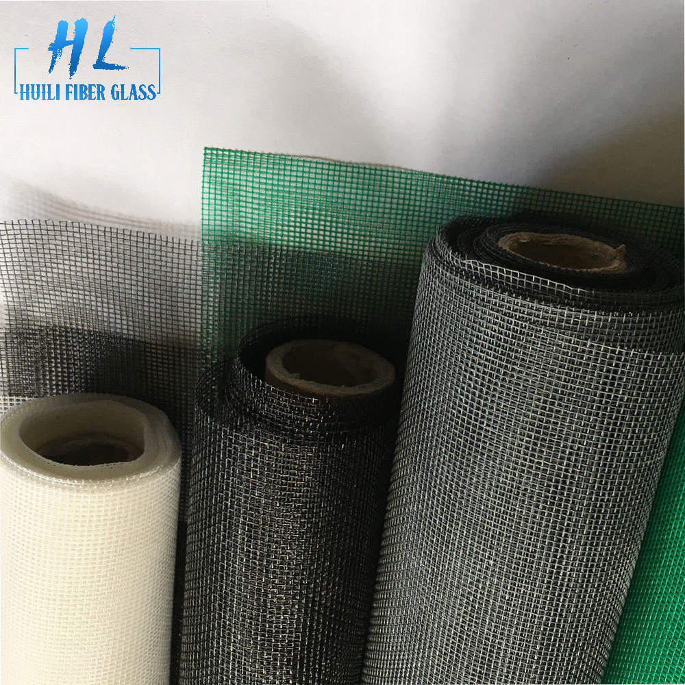 1.8m wide 18*16 Grey fiberglass window insect screen for mosquito roller