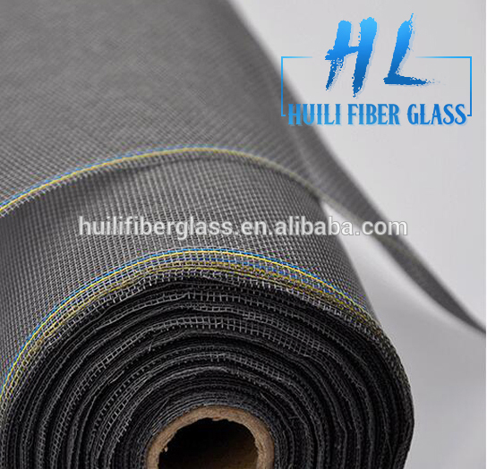 Cheap!!!! Huili Factory Price Fiberglass Mesh black Colored window screen netting / Roller mosquito nets for windows