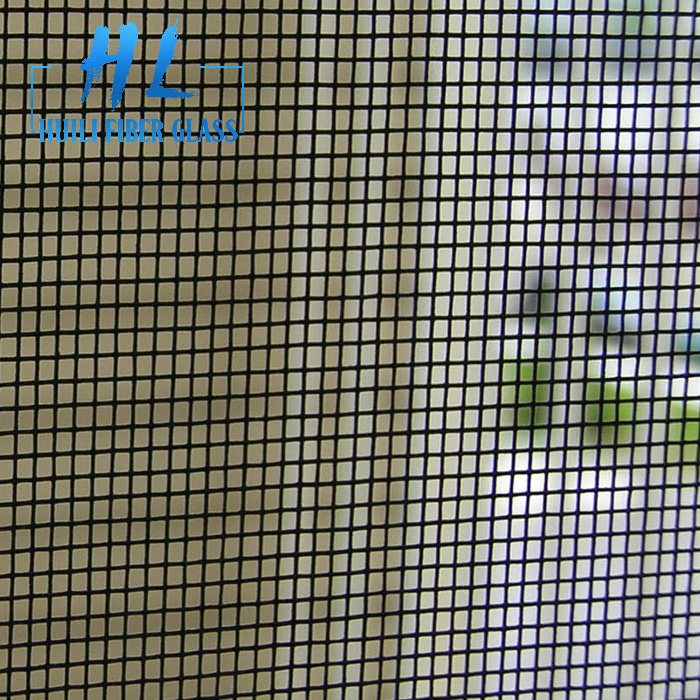 Factory Price Anti Mosquito Net Black PVC Coated Fiberglass Window Insect Screen For Door