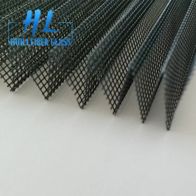 16mm 15mm Polyester Foldable Window Screen With Black And Grey Color