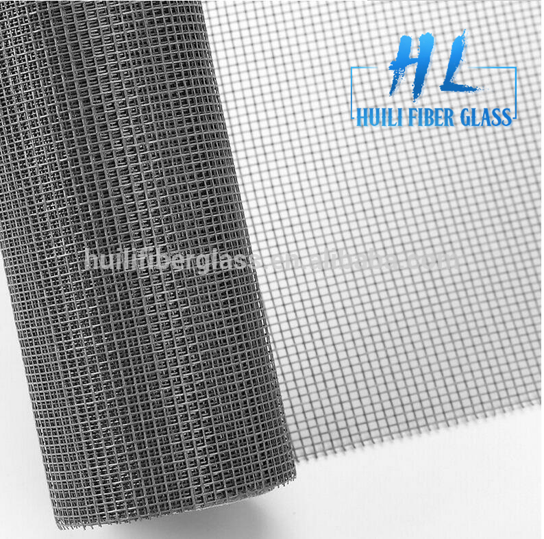 Black color fire resistance fiberglass window screen
