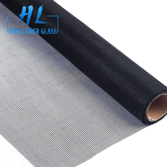 black pvc coated plain weave fiberglass fly insect screen
