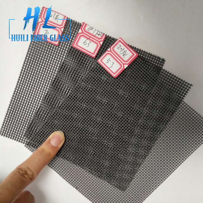 Black PVC coated stainless steel 304 security window screen