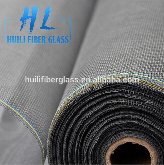 Cheap!!!! Huili gray fiberglass mesh fabric type mosquito net as the window insect screen