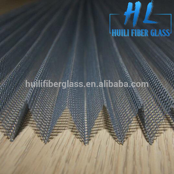 Fiberglass folding screen polyester pleated window insect screen