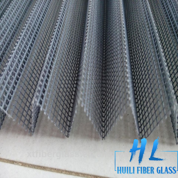 Gray Color Fiberglass Plisse Insect Screen/Pleated Window Screen/Folding Insect Mesh