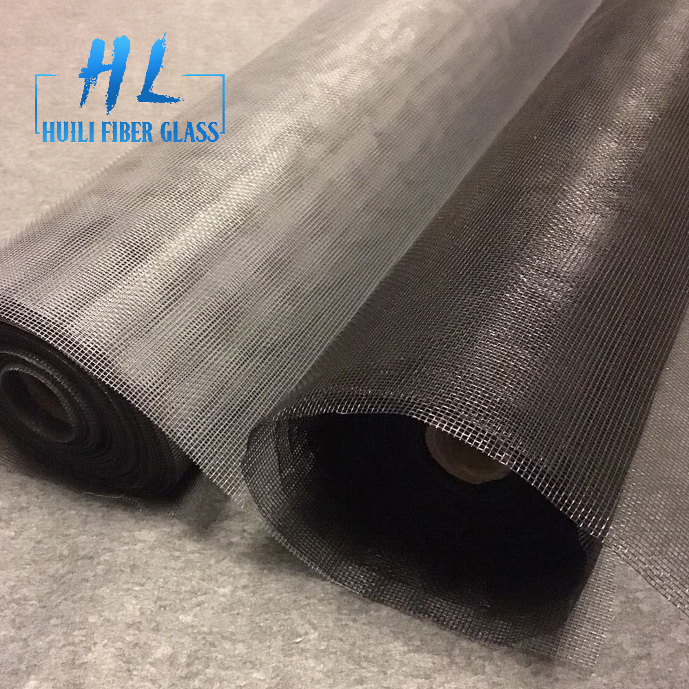 grey pvc coated 120g fiber glass window screen