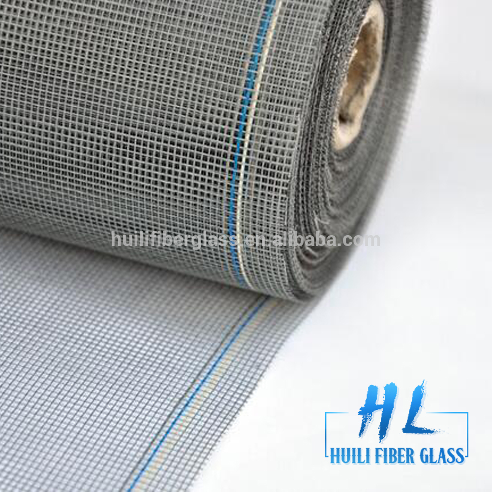 Huili Brand 18*16 mesh 110g/m2 colored fiberglass window screen netting