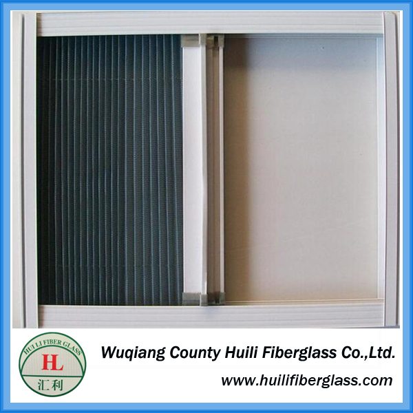 Japanese Pleated Mesh Insect Screen / fiberglass fly insect screen mesh curtain