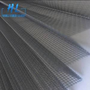 Waterproof Plisse Insect Screen polyester Pleated Mesh