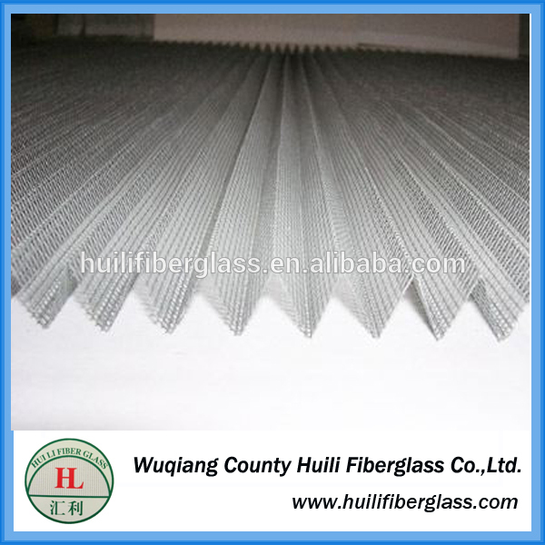 polyester pleated insect screen/plisse folding window screen
