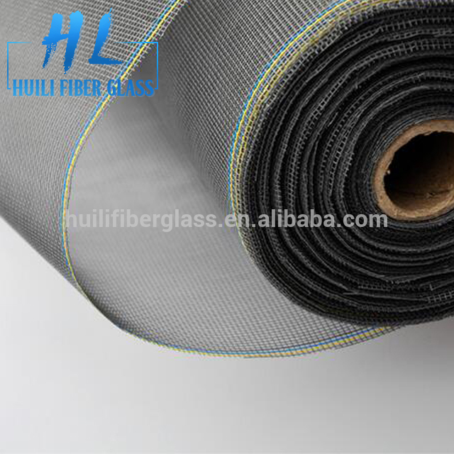 PVC coat plain weave fiberglass window screen from hebei huili factory with different weight