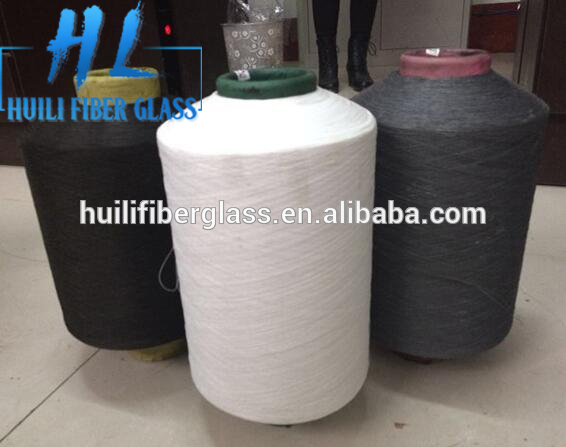 PVC coated E-glass fiberglass yarn