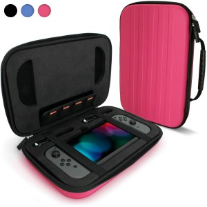 EVA Hard Travel Case for Nintendo Switch Cover with Shockproof Foam Inner & Carrying Handle