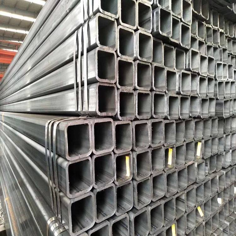 Mild Steel Ms Carbon Black Steel Square Rectangular Hollow Section Pipe Q235 Tube