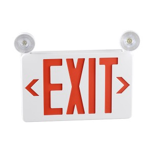 Emergency exit sign combo JLECB2RW