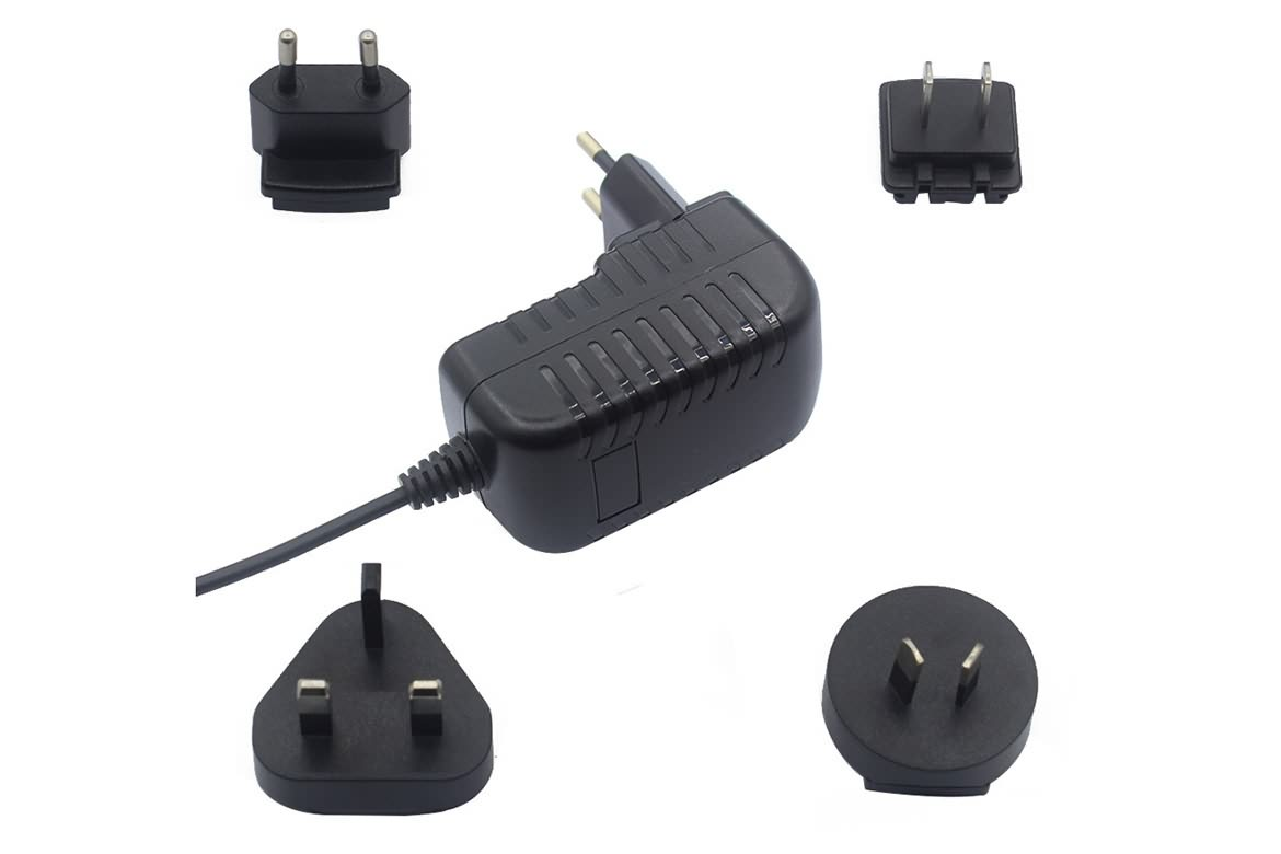 INTERCHANGEABLE AC PLUG ADAPTER12V1A FOR ELECTRONICS DEVICE  MORE DETAILS