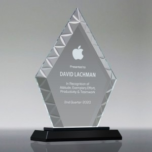 Personalized Custom logo Clear Glass Trophy,GT821001