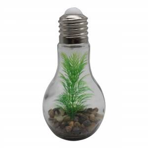 Eco glass bulb hanging lamps high quality led bulb with plastic tree