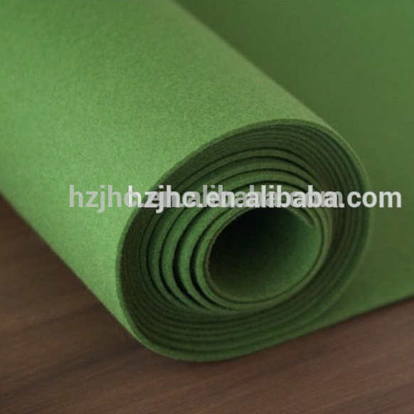 Nonwoven plain polyester silk wool blend carpet