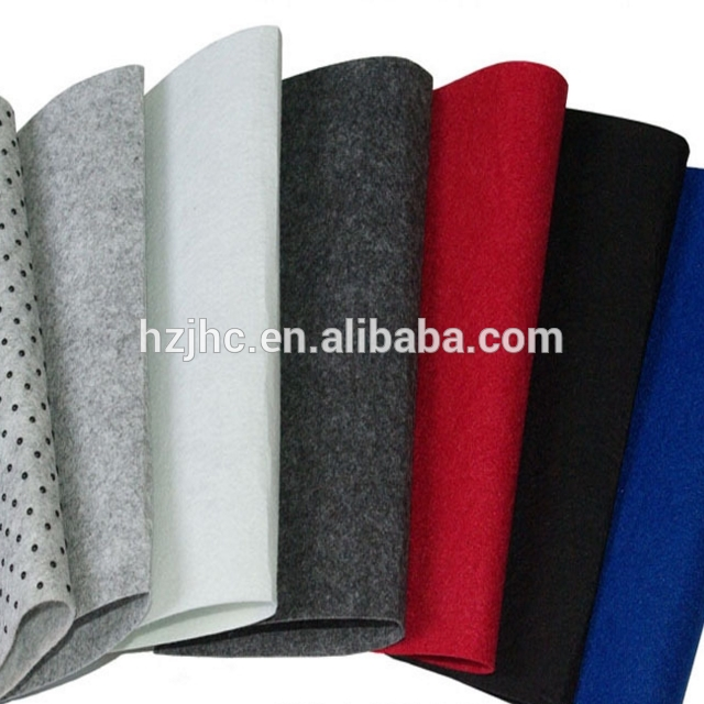 Hege kwaliteit needle Punched polyester anti-slip net woven carpet fabric