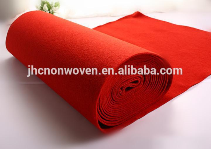 Custom polyester pet needle punched non woven felt carpet fabric roll