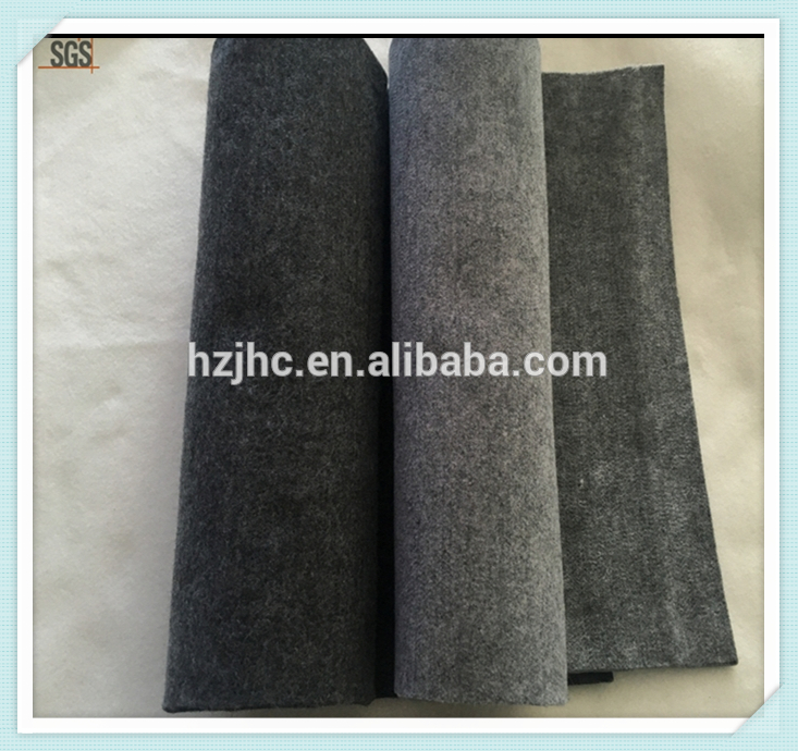 Indoor of outdoor carpet plain nonwoven polyester carpet