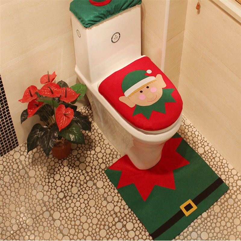 Christmas color toilet seat covers for home