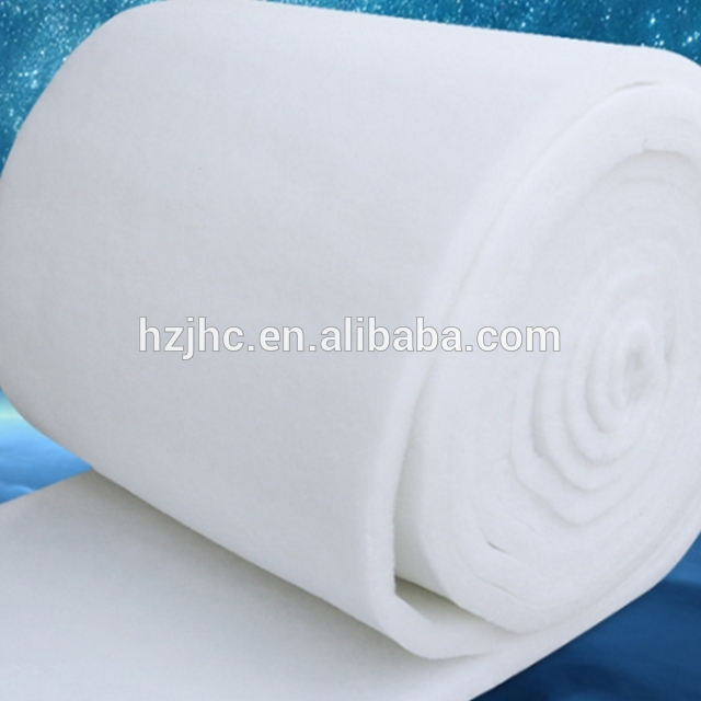 Fluffy nonwoven polyester wadding batting sheet rolls