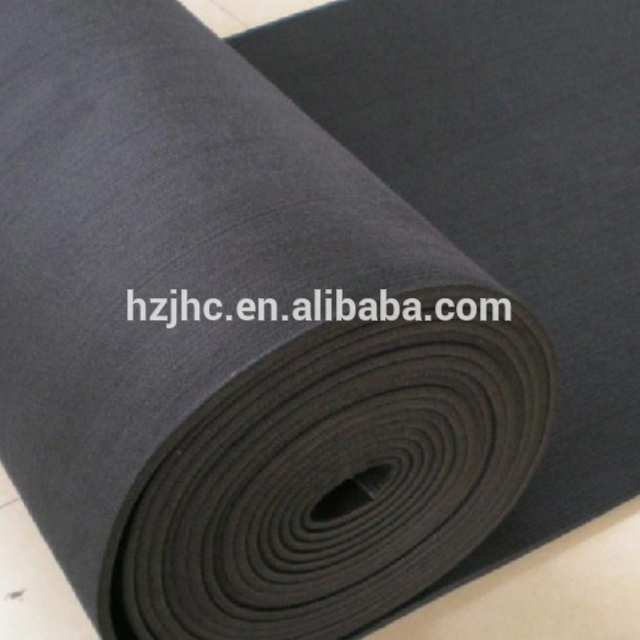Factory For Velvet Fleece Fabric - Thick black polyester needle punched nonwoven felt material – Jinhaocheng