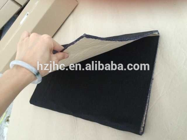 Laminate adhesive non woven sound damping recycled felt fabric