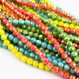 China crystal glass beads in bulk, wholesale rondelle glass crystal beads for jewelry making