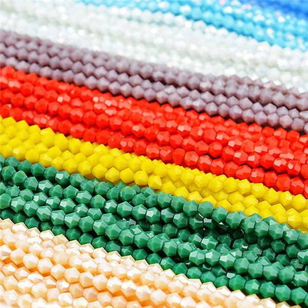 China crystal glass beads in bulk, wholesale rondelle glass crystal beads for jewelry making Featured Image