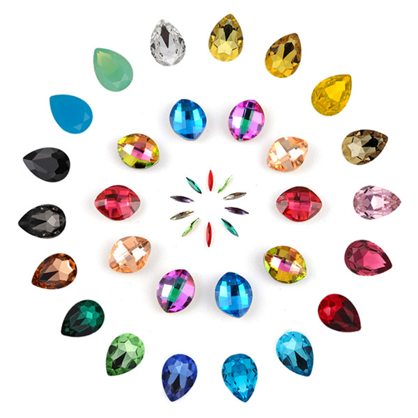 Wholesale k9 teardrop rhinestones crystal stone, high quality all kinds of point back glass fancy stone hot sale products 3 buyers Featured Image