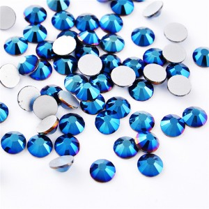 High quality nail flat back crystal glass non hot fix nail art stone