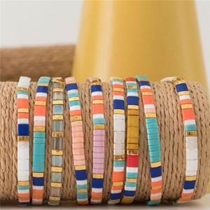 Bohemian fashion tila bead handmade mens jewelry bracelet, wholesale jewelry charm bracelet