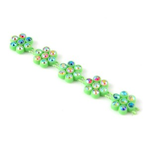 Garment accessories crystal rhinestone banding flower plastic trim, sew on plastic rhinestone trimming