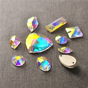 Jingcan factory wholesale sew on stone, sew on crystal rhinestones