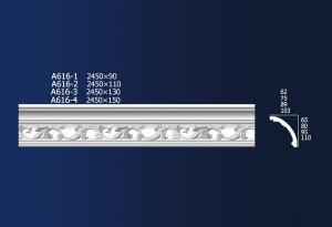 Factory directly supply Pemasangan Plafon Gypsum Drop Ceiling - Carved Diagonals A616 – Jiupin Decoration