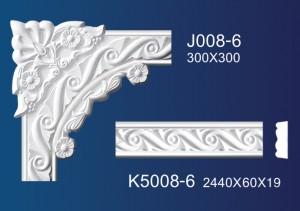 Online Exporter Ornate Plaster Cornice - Flower Angle Line  K5008 – Jiupin Decoration