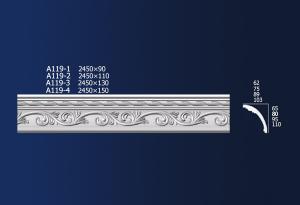 Low MOQ for Pop Gypsum False Ceiling - Carved Diagonals A119 – Jiupin Decoration