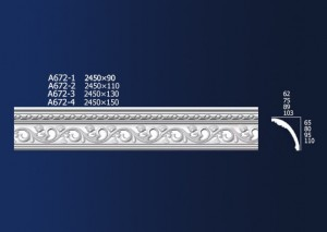 High Quality Carved Cornice Line - Carved Diagonals A672 – Jiupin Decoration