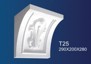 Chinese wholesale Gypsum Thread Molding - Giuseppe  T25 – Jiupin Decoration