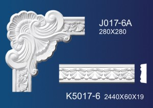 Big discounting Gypsum Decoration Living Room - Flower Angle Line  K5017 – Jiupin Decoration