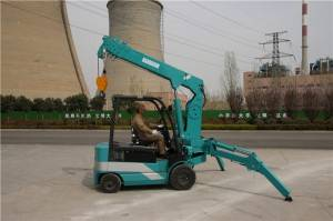 No pollution no noise KBE3.0 wheeled crane