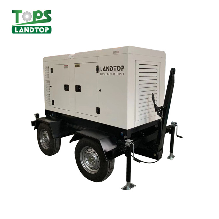 LANDTOP Cummins Engine Diesel Generator Set with movable  trailer type Featured Image
