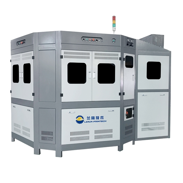 LP-F412 Fully Automatic CNC Controlled 4 Color Universal Screen Printing Machine For Decoration Of Cylindrical And Oval Glass Containers Featured Image
