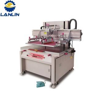 Motor hinimok Flat Bed Screen Printing Machine