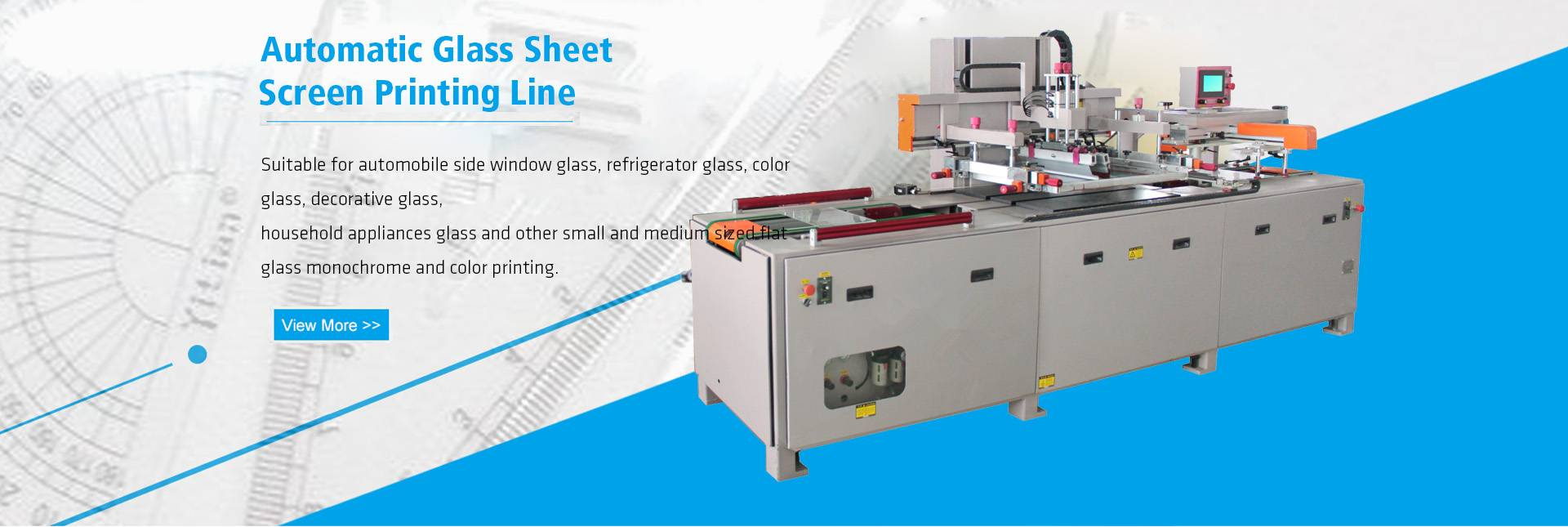 Flat sheet screen printing machine