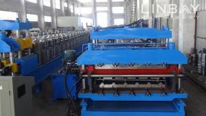 Double Layer Panel gulungan membentuk mesin